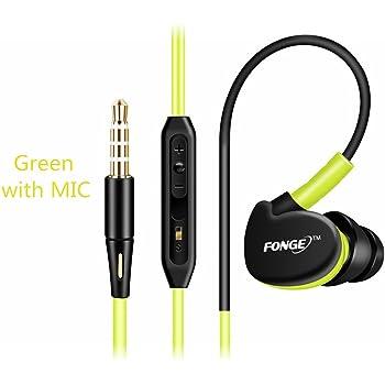 Sport 3.5mm Jack stereo in-ear Wired auricolari cuffia rumore resistente  controllo pulsante con il microfono Controllo volume per Apple Samsung  Android ... 732124d5a9f0