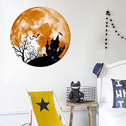 Kostüm Moon Mini - Daygeve Zuhause Party Deko, Anatomische Tracing, Medizinische Lehre, Halloween Dekoration Statue,Kreative Luminous Moon Wandaufkleber Halloween Dekoration Aufkleber Castle Bat