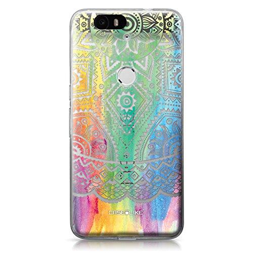 CASEiLIKE® Nexus 6P Hülle, Nexus 6P TPU Schutzhülle Tasche Case Cover, Indische Linie Kunst 2064, Kratzfest Weich Flexibel Silikon für Huawei Google Nexus 6P
