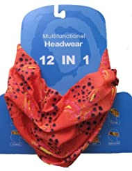 Braga para el cuello, pañuelo de microfibra multifunción, diseño de anaranjado cachemir paisley