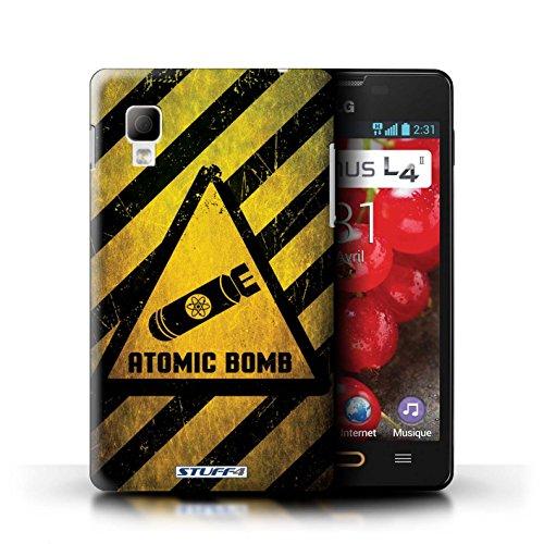 iCHOOSE Print Motif Coque de protection Case / Plastique manchon de telephone Coque pour iPhone 6+/Plus 5.5 / Collection Signes de Danger / Radiation Bombe Atomique