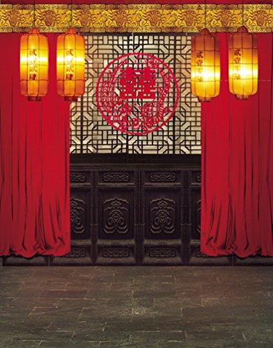 A.Monamour 5x7ft Gewebe Vinyl Rote Chinesische Lunar Neue Jahr Frühlingsfestival Thema Partei Wand Dekorationen Wandbild Fotografie Hintergründe
