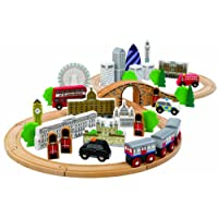 Tidlo Wooden City of London Figure of Eight Train Set