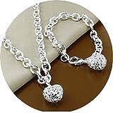 Halskette + Armband Set Hochzeit Abend Kette Statementkette Charms Necklace NEU
