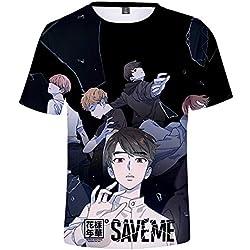 Camisetas para Hombre y Mujer 3D ImpresiÓN Flojo Remeras BTS Save ME T-Shirt Moda Personalidad Camisas Manga Corta Blusas