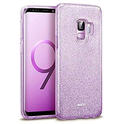 ESR Cover per Samsung Galaxy S9 con Brillantini/Glitters, Custodia Brillante Lucciante Luminosa [Elastica e Morbida] per Samsung Galaxy S9 (Uscito a 2018). (Lilla Viola)