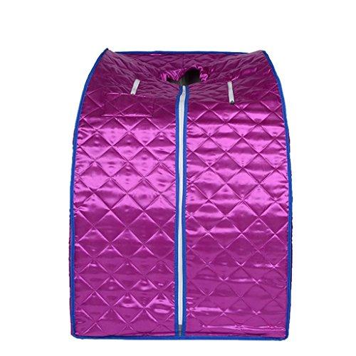 MNII Home Steam Sauna Bath Box Home Khan Steam Box Folding Fumigation Machine Sweat Khan Steam Room Power 1000W Size 100 * 82 * 68cm , purple (without head cover) high quality- einfach zu bedienen