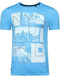 Dissident Men's Manhatburn Motif Burnout T-Shirt Top Size S- XXL