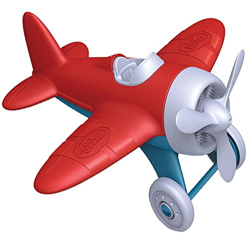 Green Toys - 66058 - Véhicule Miniature - Modèle Simple - Avion - Rouge