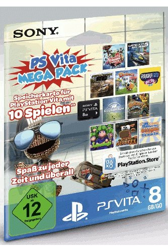 PlayStation Vita Mega Pack 1: 8GB Speicherkarte inkl. Games (DLC) - Vita Pack