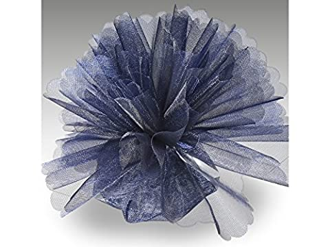 Organza Tulle Circles Crystal Pack of 50 Standard Navy