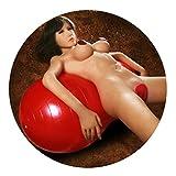 SXOVO Yoga Ball Gymnastikball Aufblasbare Geschlechts Position Kissen Sex-Spiel Sex Sofa für Paare 50 * 100 cm Erwachsene Massage Spielzeug ( Rot )