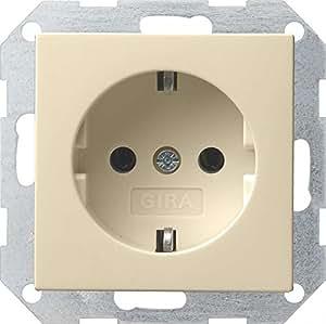 Gira 018801 Schuko Steckdose System 55, cremeweiß