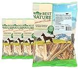 Dehner Best Nature Hundesnack, weißer Rinderpansen, 4 x 100 g (400 g)