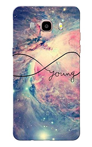 Galaxy J7 2016 Case, Galaxy On8 Case, Young Forever Slim Fit Hard Case Cover/Back Cover for Samsung Galaxy J7 2016  available at amazon for Rs.159