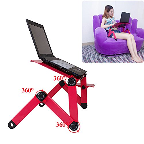 Alftek Portable Laptop Desk Computer Table Stand Aluminium Alloy Adjustable Foldable Sofa Bed Tray for Home Office Dormitory