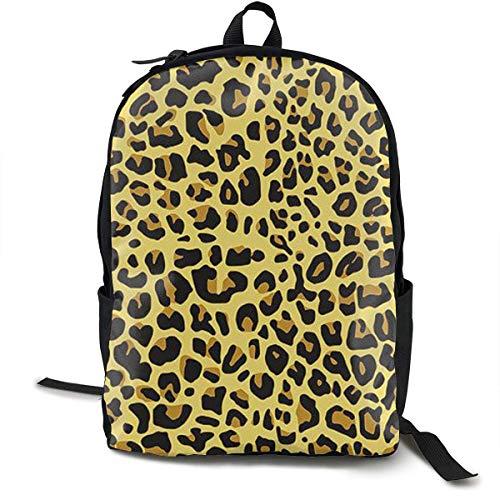 top1998 Robuste Polyester-Rucksäcke Cheetah Yellow Leopard Reise- und Sportrucksack Rucksack - Diebstahlsicherer Mehrzweck-Handgepäckbeutel für Männer, Frauen und Kinder