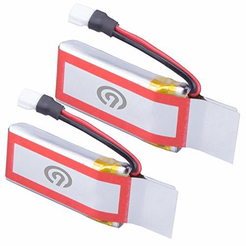 2x Original NINETEC 450mAh Ersatz Akku Batterie für Spyforce1 Mini Video Drohne - 2