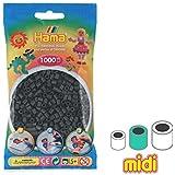 Cuentas Hama Beads MIDI 5 mm Gris Oscuro (n°71) x1000