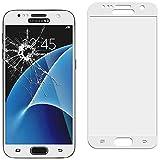 ebestStar - Verre trempé Samsung Galaxy S7 SM-G930F, G930 - Film écran en VERRE Trempé INCURVE anti casse anti-rayures (protection Intégrale, couverture complète des bords arrondis ou incurvés de l'écran), Couleur Blanc [Dimensions PRECISES de votre appareil : 142.4 x 69.6 x 7.9 mm, écran 5.1'']