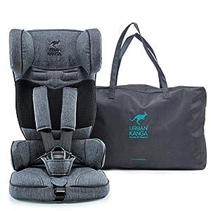 Urban Kanga Uptown Portable and Foldable Travel Car Seat Group 1 | 9-18 Kg (Grey Denim)   12
