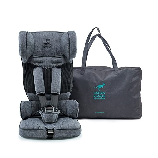 Urban Kanga Uptown Portable and Foldable Travel Car Seat Group 1 | 9-18 Kg (Grey Denim)  FOLDABLE PORTABLE TRAVEL CAR SEAT - Universal Group 1. Suitable for children weighing 9-18 Kg. (20 to 40 LB.) SAFE - Tested and certified to meet ECE R44/04 EUROPEAN SAFETY STANDARD LIGHTWEIGHT - Weighs only 3 KG! Fits in most standard suitcases. Carry bag included! 1