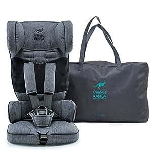Urban Kanga Uptown Portable and Foldable Travel Car Seat Group 1 | 9-18 Kg (Grey Denim)