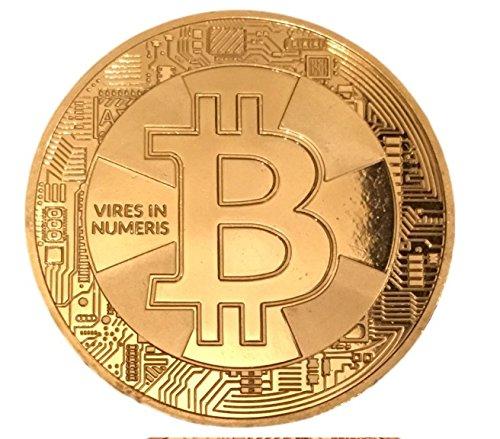 3er Set Physische Bitcoin BTC Münzen – Angreifbare Deko Münze + Schutzkapsel - Gold Silber oder Bronze-Münze – AUSWÄHLBAR – Krypto Münze für jeden Bitcoin Fan – Sammlermünze – Dekoration (1xGold/1xSilber/1xBronze)