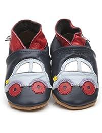 Suaves Zapatos De Cuero Del Bebé Pirata 0-6 meses