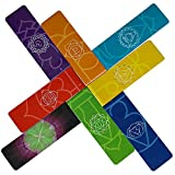 LANGE LESEZEICHEN Chakra Magnetische Lesezeichen auf Englisch Wunderschönen Mandalas Farbenfroh Bildungs Informationen über Chakren auf Karte, Ideal als Seitenmarker Geschenke Persönliche Sammlung