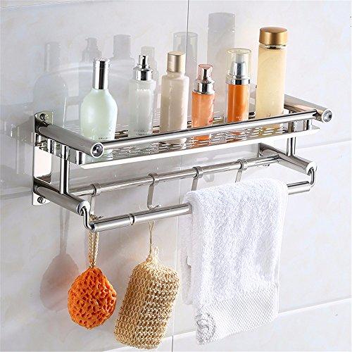 Dusche Regale 304 Edelstahl Bad Duschständer Einzigen Schicht + Handtuch Bar +4 Haken