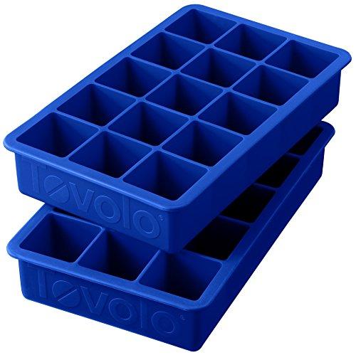 Tovolo Eiswürfelbehälter, blaue Behälter im 2er-Set, neu