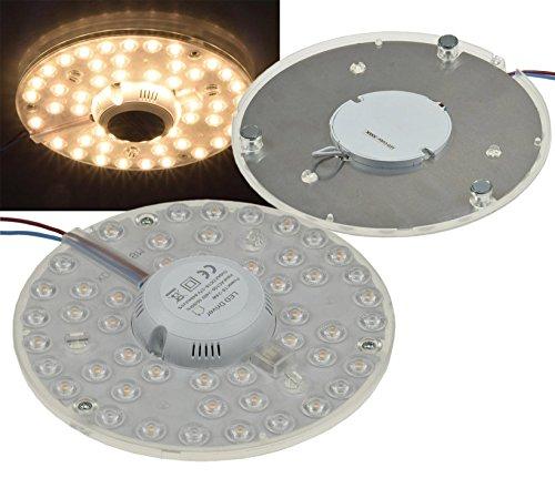 LED Nachrüst Umrüst Modul mit Magnethalter 12W - 24W Ø125 - Ø180mm 1080 - 2200 Lumen 230V anschlussfertig (Ø 180mm, 24W, warmweiss) Led-platine