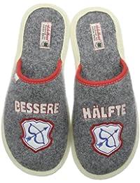 Adelheid Bessere Hälfte Filzpantoffel Unisex-Erwachsene Pantoffeln