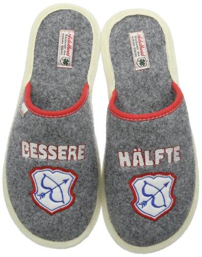 Adelheid Bessere Hälfte Filzpantoffel Unisex-Erwachsene Pantoffeln Grau (mausgrau / 940)