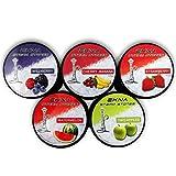 EKNA® Steam Stones Fruchtmix-Set - 5 x 120g - Shisha Steine Nikotinfrei - Tabakersatz Shisha - Dampfsteine mit intensivem Geschmack!