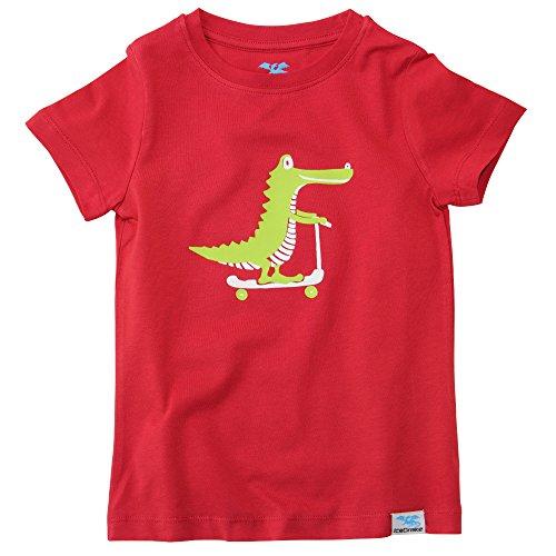IceDrake Baby & Kinder T-Shirt Krokodil (rot) aus Bio Baumwolle