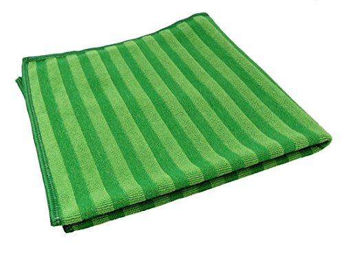 Preisvergleich Produktbild GBPro Grün gestreiftes Scheuertuch aus Mikrofaser (40 x 40 cm)