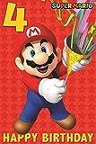 Super Mario 4. Geburtstagskarte