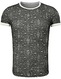 Young & Rich Homme T-shirt PAMPLONA Millésime Regardez avec détruit Effets