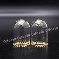 Odoria 1/12 Miniatura 2PZ Tarro de Cristal de Campana Decorativo para Casa de Muñecas