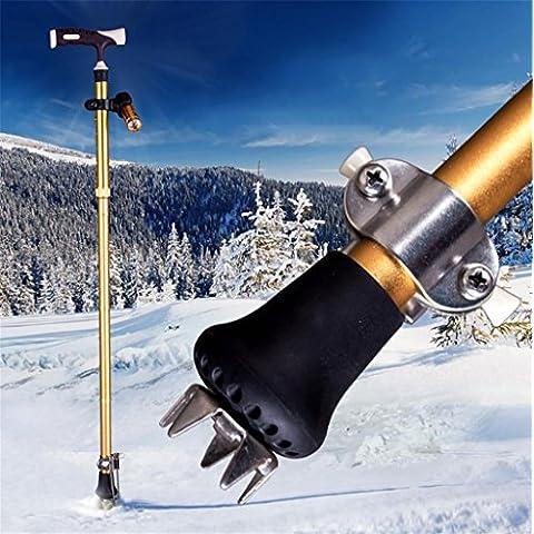 G&M Iluminadas muletas de aluminio plegables ancianos ancianos caña telescópica caminar stick-slip caña de Walker , orange