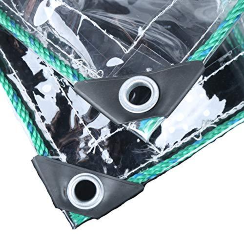 ALYR Transparente Plane, Rip-Stop Plane für Camping Wasserdicht Abdeckplanen Nützlich als Abdeckplane für Fahrräder, Möbel usw,Transparent_5.4x4.5ft/1.8x1.5m -