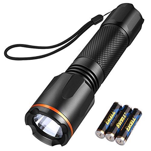 Linterna LED, TACKLIFE-LFL1A Linternas Táctica Militar con 6 Modos, Ultra Brillante Flashlight, Impermeable IP68, Perfecta para Ciclismo,Camping, Montañismo