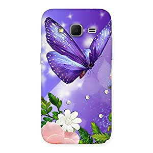 Stylish Voilate Butterfly Back Case Cover for Galaxy Core Prime