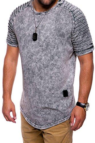 MT Styles Oversize Biker T-Shirt C-9053 Grau
