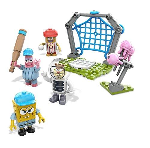 Mattel Mega Bloks DLB17 - Konstruktionsspielzeug, Spongebob Schwammkopf Jellyfish Baseball