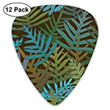 Fern Tangle Dark Roast Blues 150_3264 Classic Celluloid Picks, 12-Pack, For Electric Guitar, Acoustic Guitar, Mandolin, And Bass