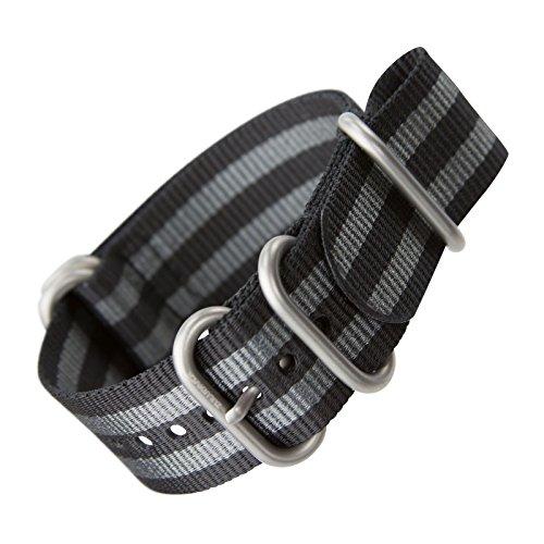 klassisches-bond-uhrenarmband-von-zuludiverr-aus-nylon-zulu-schwarz-grau-gestreift-schliesse-im-seid