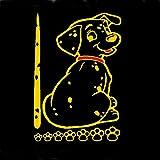 Autoaufkleber für Autoscheibe/ Scheibenwischer, lustiger Hund mit beweglichem Schwanz, reflektierend, 2 Stück